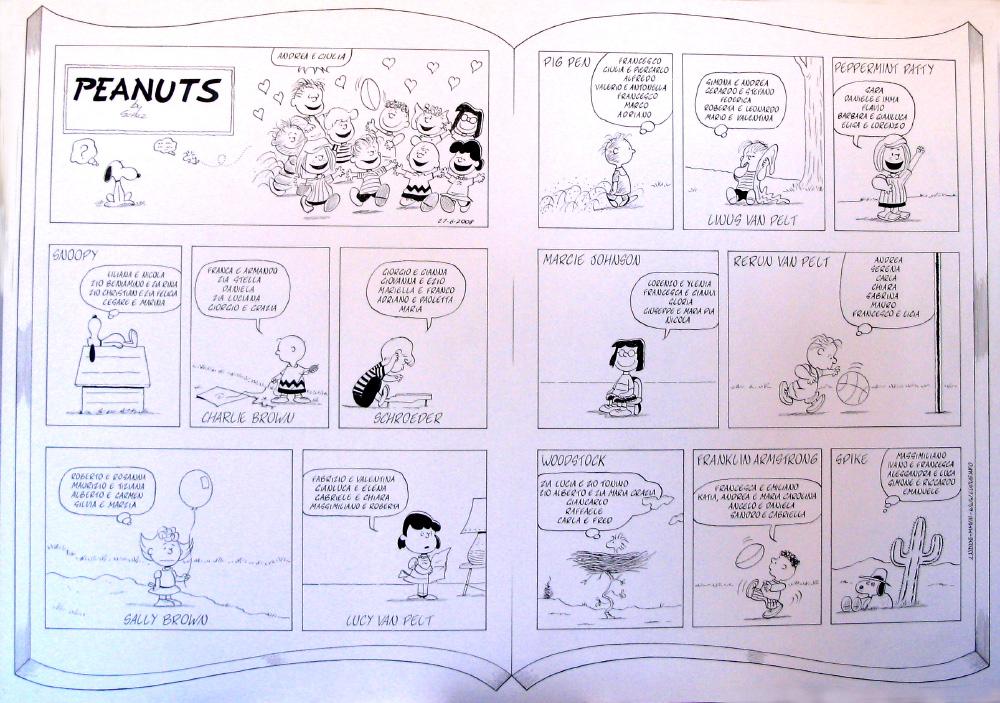 Tableau matrimoniali a fumetti
