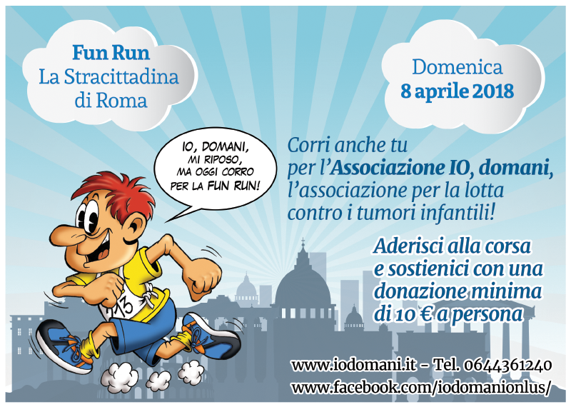 Flyer for Fun Run of Rome
