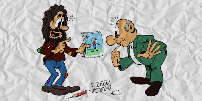 Essere vignettista nell'era preinternet