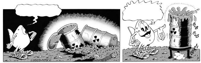 Striscia a fumetti di 2 vignette