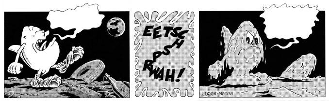 Striscia a fumetti di 3 vignette