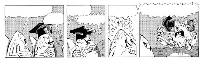 Striscia a fumetti di 4 vignette