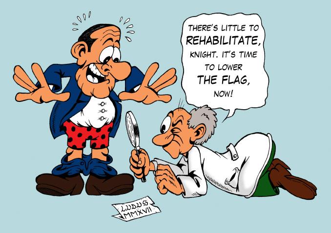 Cartoon about Berlusconi