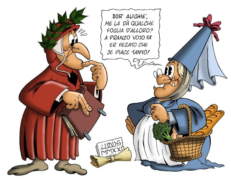 Vignetta su Dante Alighieri - Dantedì